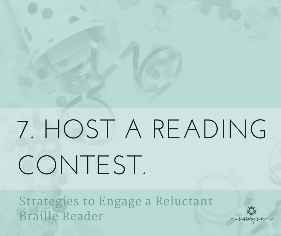 7. Host a reading contest