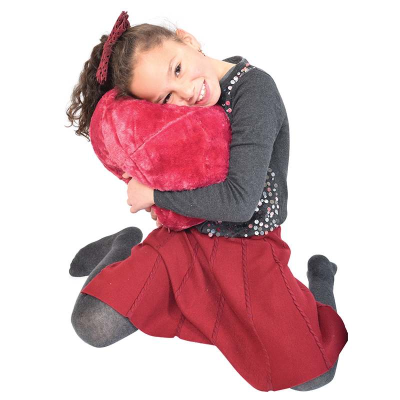 vibrating massage sensory cushion with soft velour cover