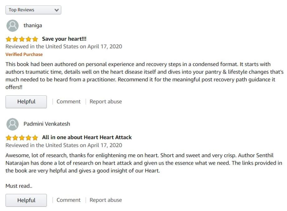Stop Heart Attack Now - Customer Reviews