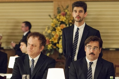 john c. reilly, ben whishaw e colin farrell in the lobster