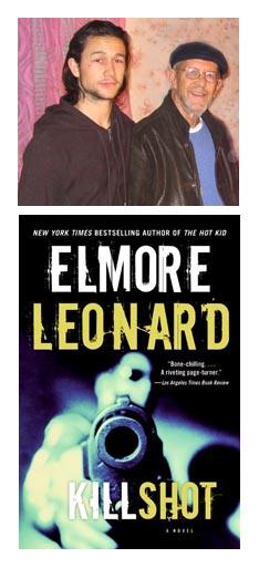 Joseph Gordon-Levitt con Elmore Leonard