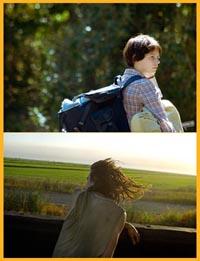 Wendy and Lucy - una scena del film e una foto di Mike Brodie
