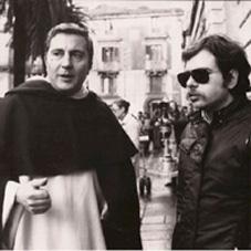 Samperi con Pino Caruso sul set di Malizia