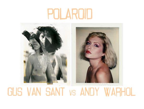 Lucian, foto di Gus Van Sant (stampa digitale da polaroid, 2010). Debbie Harry, foto di Andy Warhol (polaroid,1980)