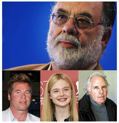 Francis Ford Coppola gira un thriller-horror con Val Kilmer, Elle Fanning e Bruce Dern