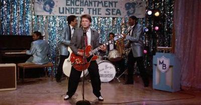 Michael J. Fox in Ritorno al futuro, di Robert Zemeckis