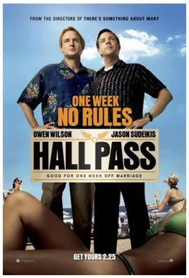 Hall Pass dei fratelli Farrelly. Il poster