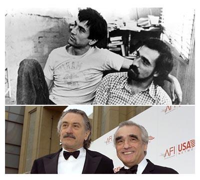 Robert De Niro e Martin Scorsese, ieri e oggi