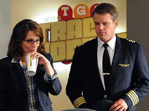 Tina Fey e Matt Damon in una scena di