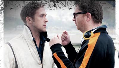 DRIVE di Nicolas Winding Refn - Ryan Gosling e il regista sul set