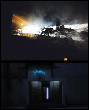 Il Club Silencio a Parigi, fotografato da David Lynch/ il Club Silencio in Mulholland Drive