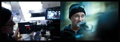David Fincher sul set di THE GIRL WITH THE DRAGON TATTOO
