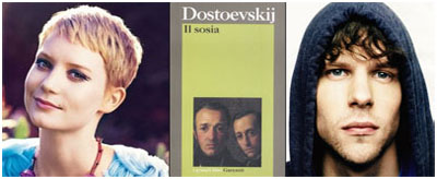 Mia Wasikowska e Jesse Eisenberg da Dostoevskji