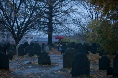 Sheri Moon sul set di The Lords Of Salem di Rob Zombie