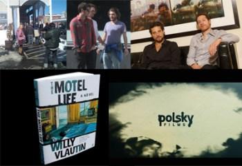 THE MOTEL LIFE, Emile Hirsch e Dakota Fanning sul set / Alan e Gabe Polsky, i registi