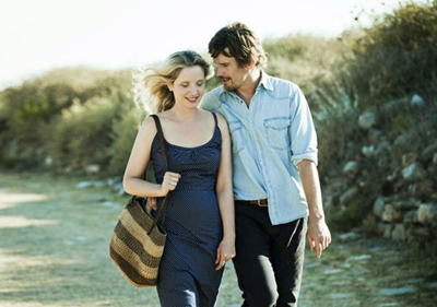 Ethan Hawke e Julie Delpy in Before Midnight di Richard Linklater