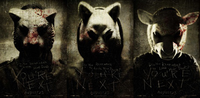 Poster - le maschere di You're Next di Adam Wingard