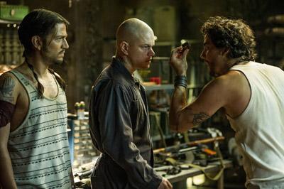 Diego Luna, Matt Damon e Wagner Moura in ELYSIUM