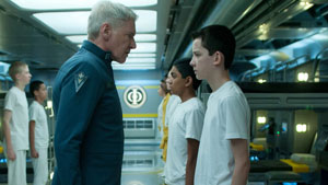 Harrison Ford e Asa Butterfield in Ender's Game