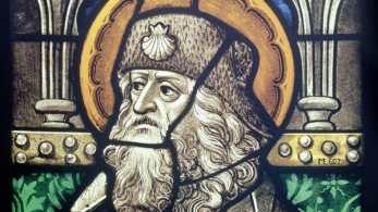 Saint Jacques Cologne, dernier quart du XVe siècleVitrailH.41, 10 cm ; L.43 cmCologne, Museum Schnütgen, M 607© Rheinisches Bildarchiv Köln