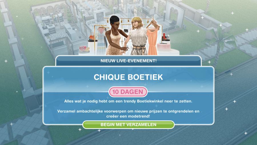 Mijn leven in foto's #87 - De Sims Freeplay Chicque Boetiek