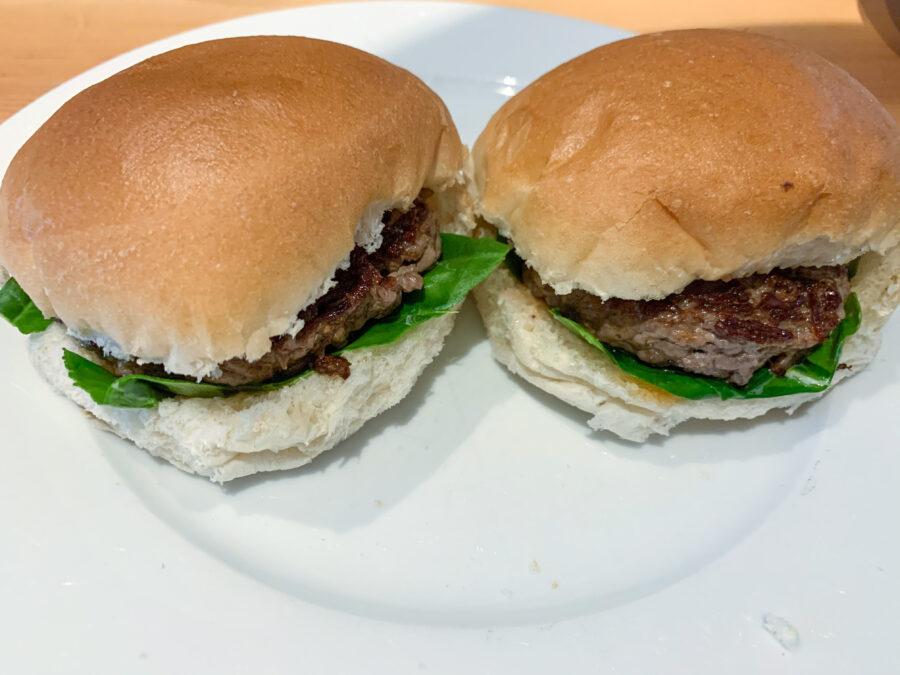 Mijn leven in foto's #131 - Broodje hamburger met spinazie