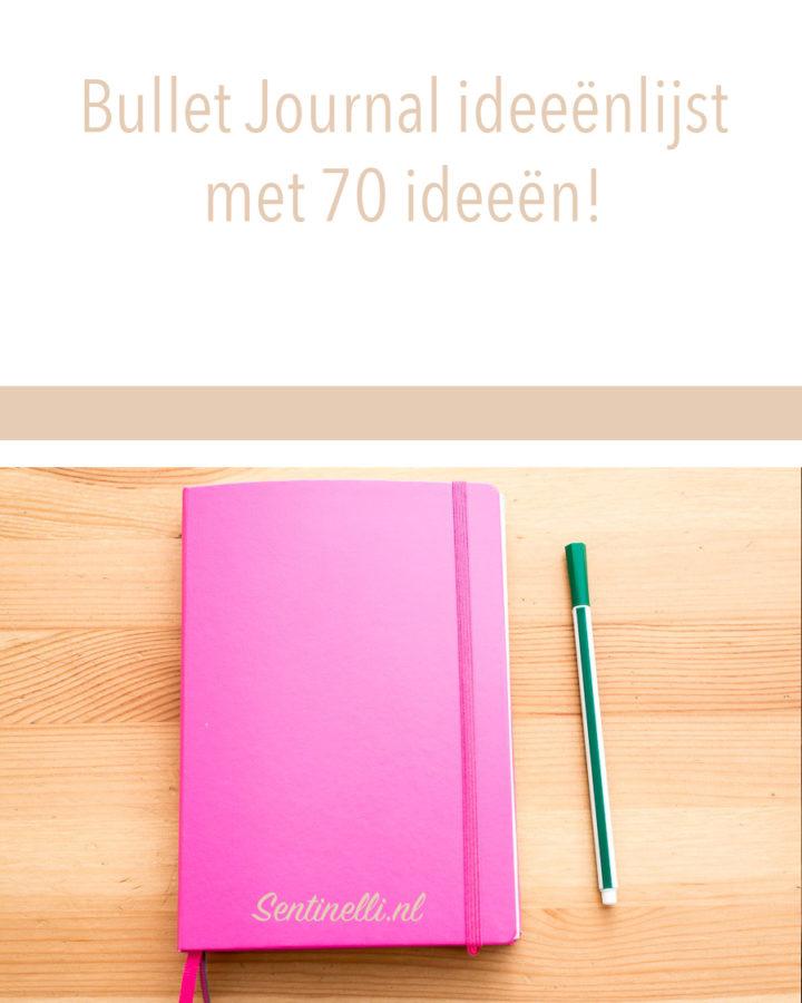 Bullet Journal ideeënlijst met 70 ideeën