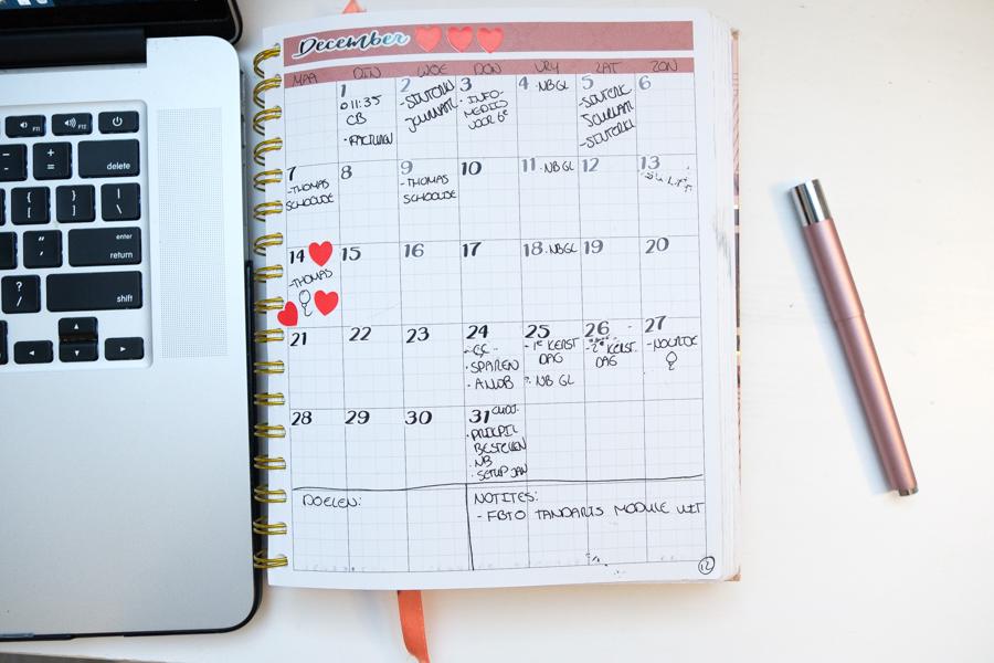 December planning in de JOSH V Mascha Planner