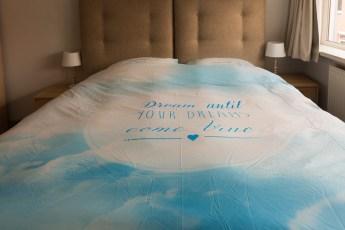 Dream blue dekbedovertrek