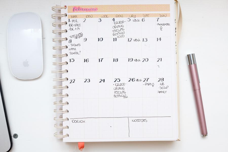 Februari planning in de JOSH V Mascha Planner