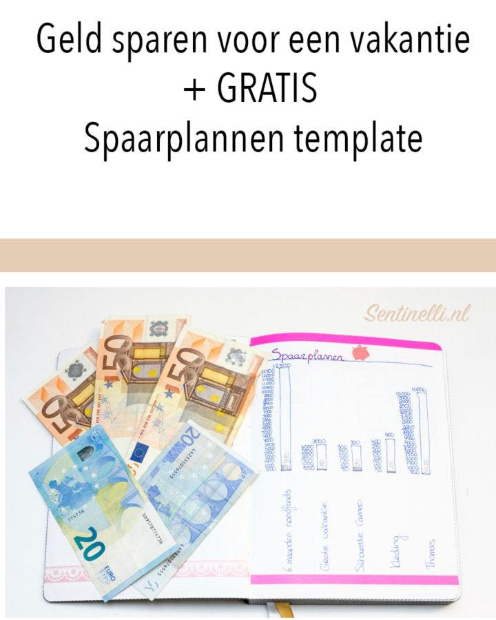 Geld sparen voor een vakantie + GRATIS Spaarplannen template
