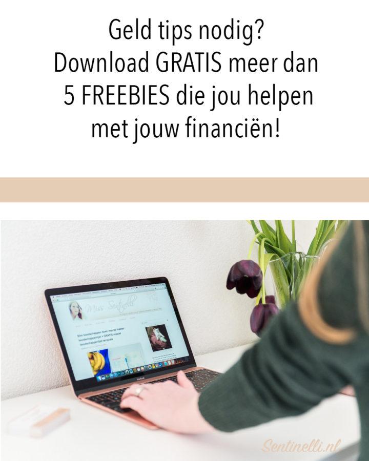 Geld tips nodig? Download GRATIS meer dan 5 FREEBIES die jou helpen met jouw financiën!