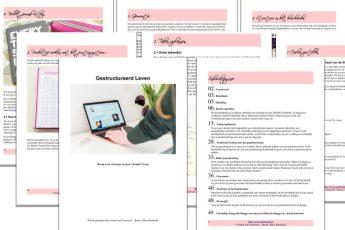 """Herfst Sale! Vijf Euro korting op mijn ebook """"Gestructureerd Leven""""! Krijg weer structuur in jouw leven!"""