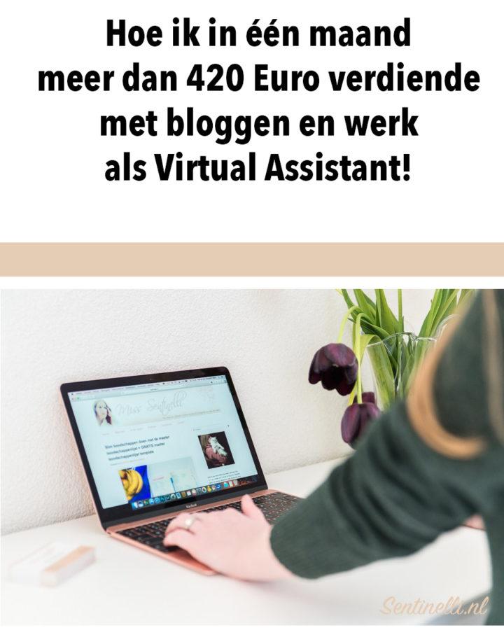Hoe ik in één maand meer dan 420 Euro verdiende met bloggen en werk als Virtual Assistant!