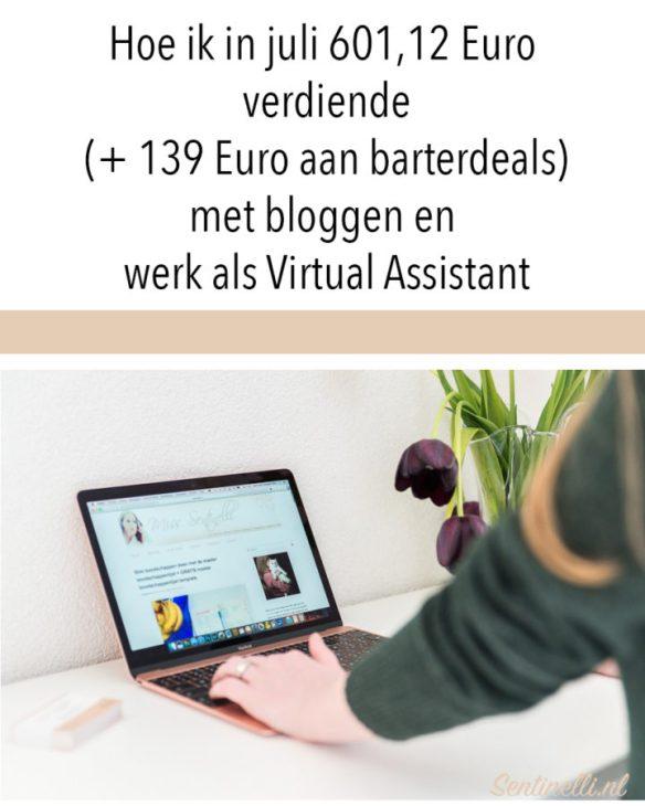 Hoe ik in juli 601,12 Euro verdiende (+ 139 Euro aan barterdeals) met bloggen en werk als Virtual Assistant