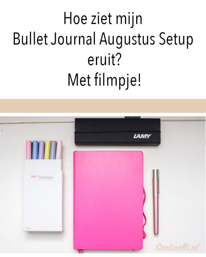 Hoe ziet mijn Bullet Journal Augustus Setup eruit? Met filmpje!