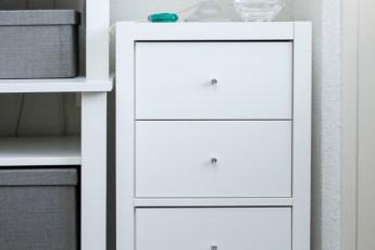 IKEA KALLAX open kast met inzet lades voor mijn knutselspullen