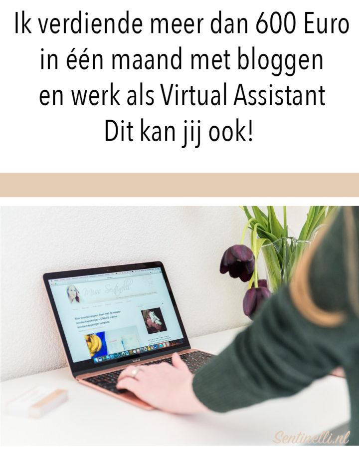 Ik verdiende meer dan 600 Euro in één maand met bloggen en werk als Virtual Assistant Dit kan jij ook!