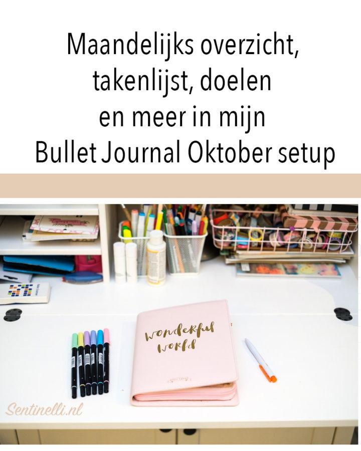 Maandelijks overzicht, takenlijst, doelen en meer in mijn Bullet Journal Oktober setup