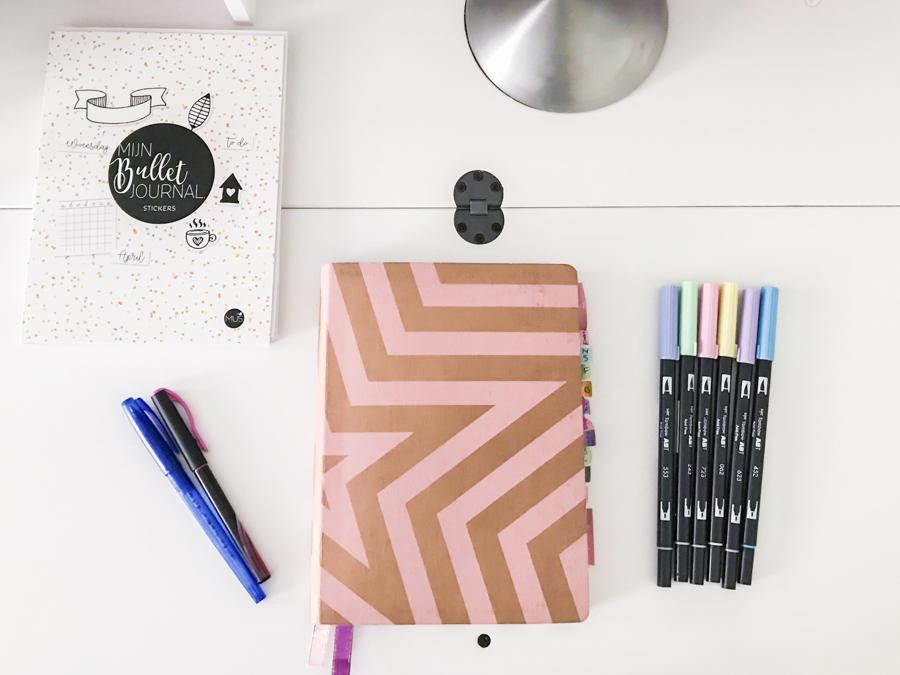 Mijn Bullet Journal augustus setup 2018