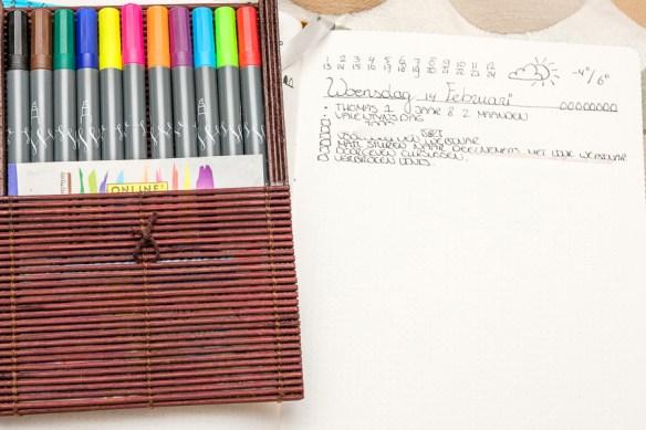 Mijn avond planning routine in mijn Bullet Journal
