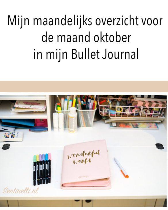 Mijn maandelijks overzicht voor de maand oktober in mijn Bullet Journal
