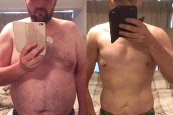 Trots! Mijn man in 57,2 kilo afgevallen!