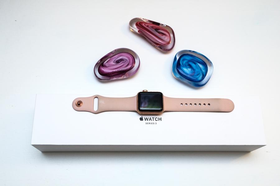 Mijn nieuwe roze Apple Watch