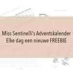 Miss Sentinelli's Adventskalender – Elke dag een nieuwe FREEBIE
