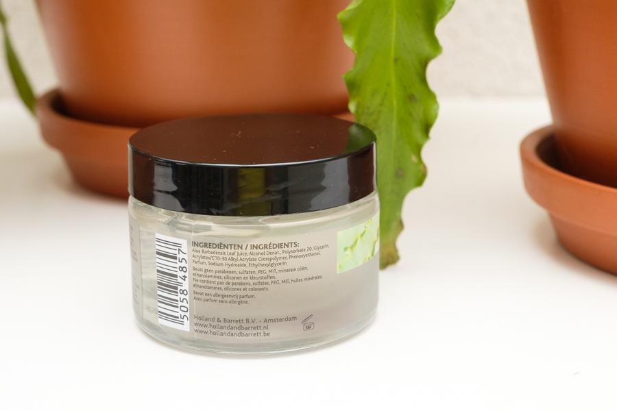 Natuurlijke zonbescherming van De Tuinen - Tuinen Aloë Vera Gel 98% - ingrediënten