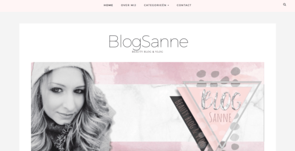 Nieuwe Beauty Blog & Vlog BlogSanne