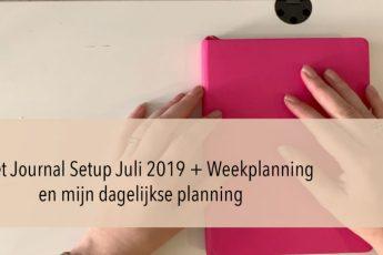 Nieuwe serie op mijn Youtube kanaal Mijn dagelijkse planning (+ Bullet Journal Juli Setup)