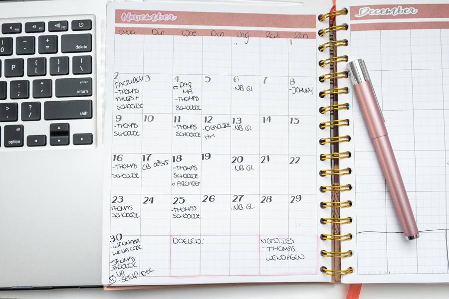 November planning in de Josh V Mascha Planner