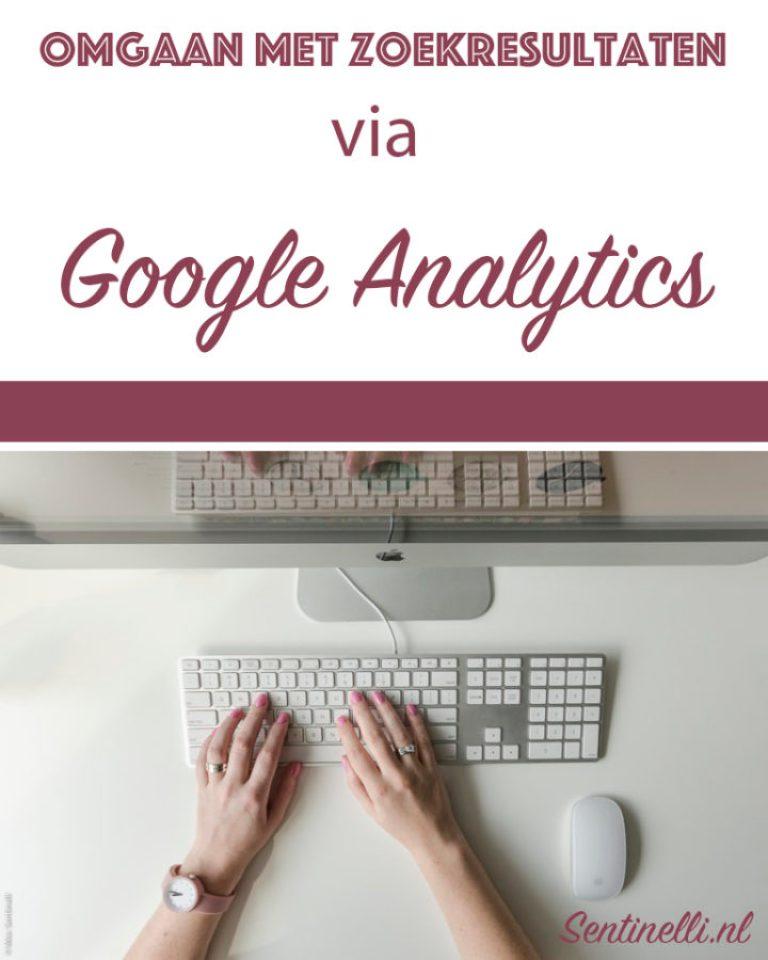 Omgaan met zoekresultaten via Google Analytics